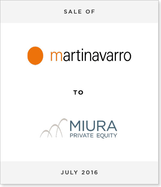 TombstoneV2-1 Acquisition of Martinavarro by Muira Private Equity
