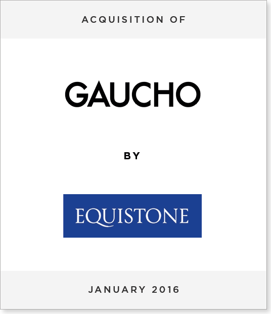 TombstoneV2 Acquisition of Gaucho by Equistone Partners