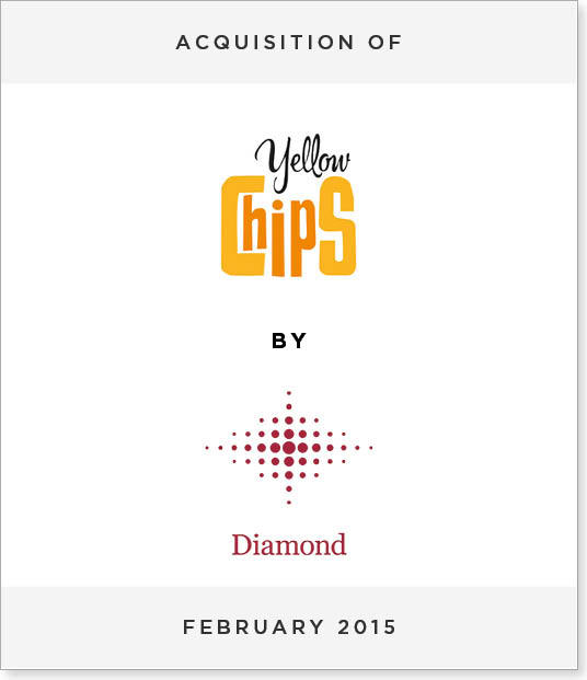 TombstoneV215 Acquisition of Yellow Chips by Diamond Foods