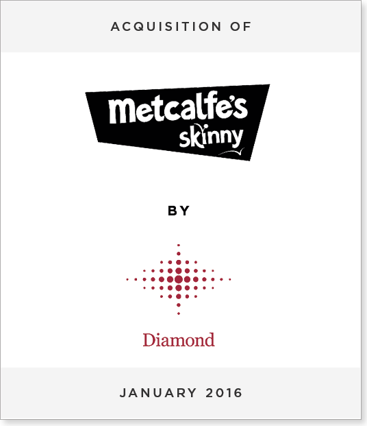 TombstoneV22 Acquisition of Metcalfe's Skinny Popcorn by Diamond Foods