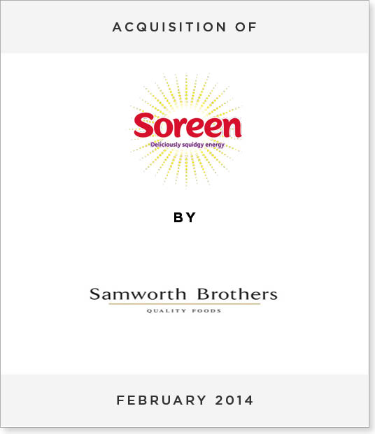 TombstoneV225 Acquisition of Soreen by Samworth Brothers