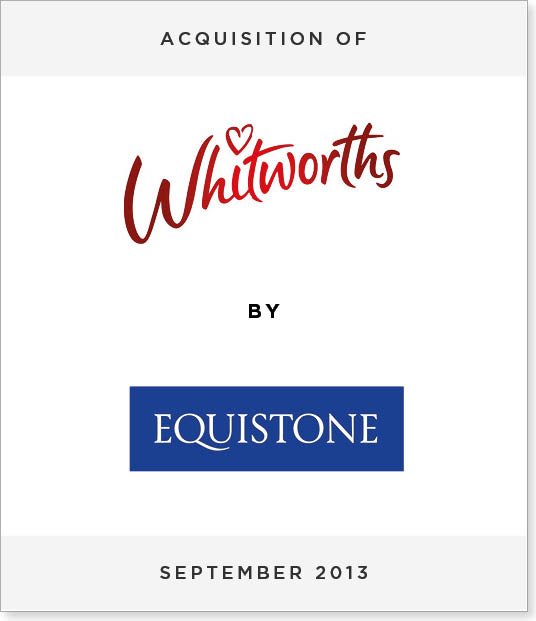 TombstoneV227 Acquisition of Whitworths by Equistone Partners Europe