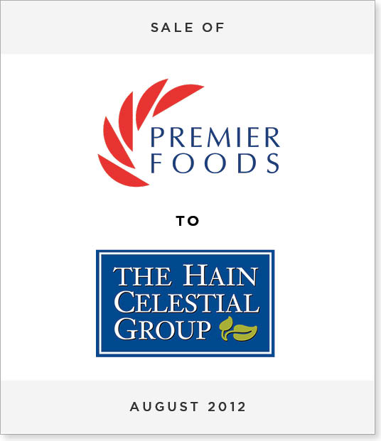 TombstoneV236-1 Disposal of Premier Foods Spreads Division to Hain Celestial Group