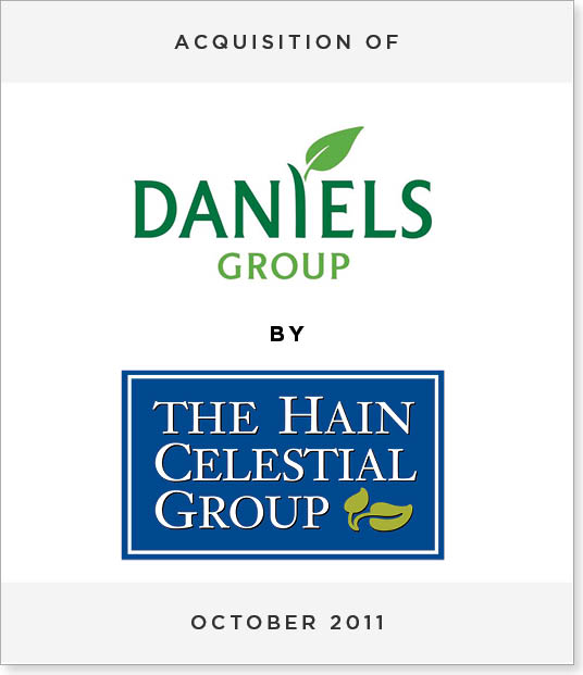 TombstoneV245-2 Acquisition of Daniels Group by Hain Celestial Group, Inc.