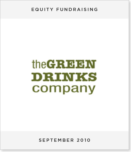 TombstoneV252-2 Equity Fundraising for The Green Drinks Company