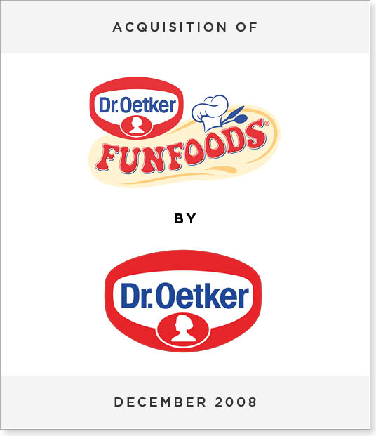 TombstoneV255 Acquisition of Fun Foods Group by Dr Oetker Group