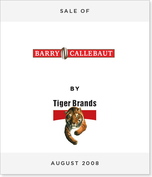 TombstoneV256 Disposal of Barry Callebaut Chococam to Tiger Brands