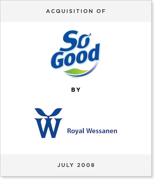TombstoneV257 Acquisition of So Good Europe by Royal Wessanen NV