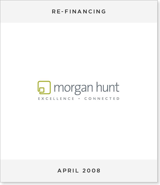 TombstoneV260 Refinancing and group restructuring of Morgan Hunt
