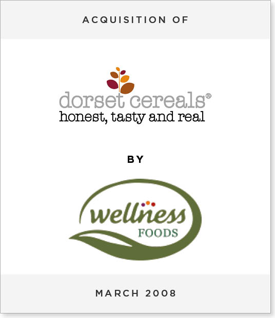 TombstoneV261 Acquisition of Dorset Cereals by Wellness Foods