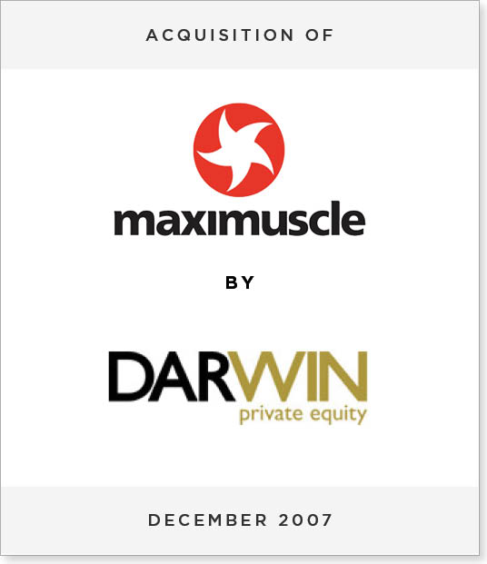 TombstoneV262 Acquisition of Maximuscle by Darwin Private Equity
