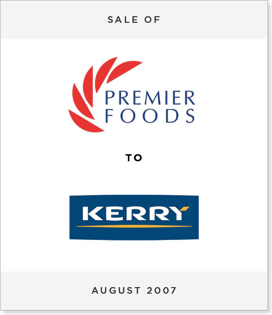 TombstoneV266-1 Disposal of Premier Foods Frozen Ready Meals to Kerry Foods PLC