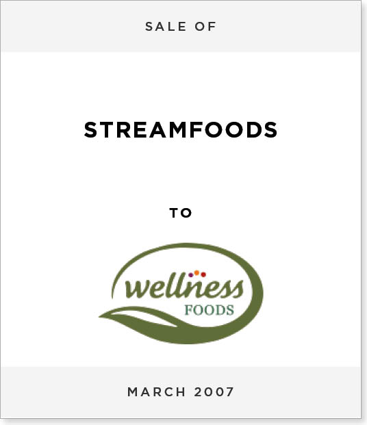 TombstoneV267-1 Disposal of Streamfoods to Wellness Foods