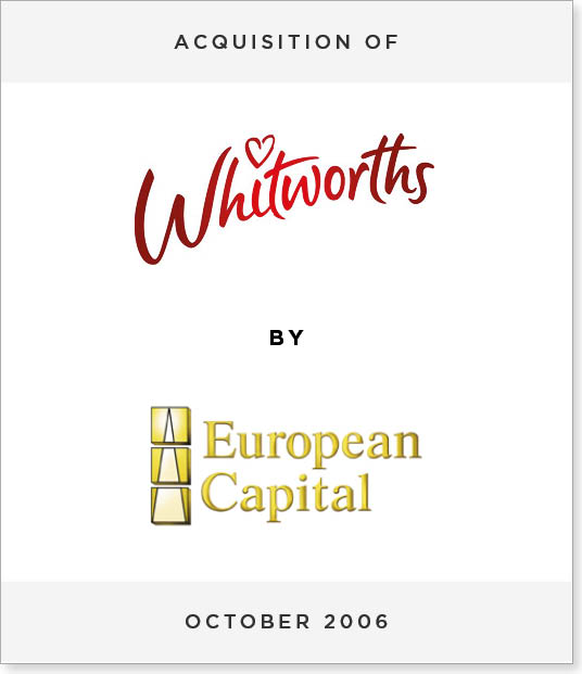 TombstoneV268 Acquisition of Whitworths by European Capital