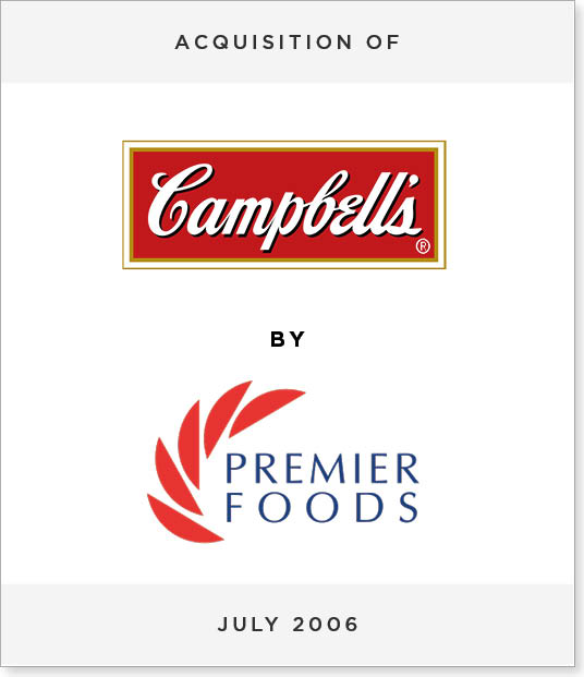 TombstoneV271 Acquisition of Campbell's UK by Premier Foods PLC