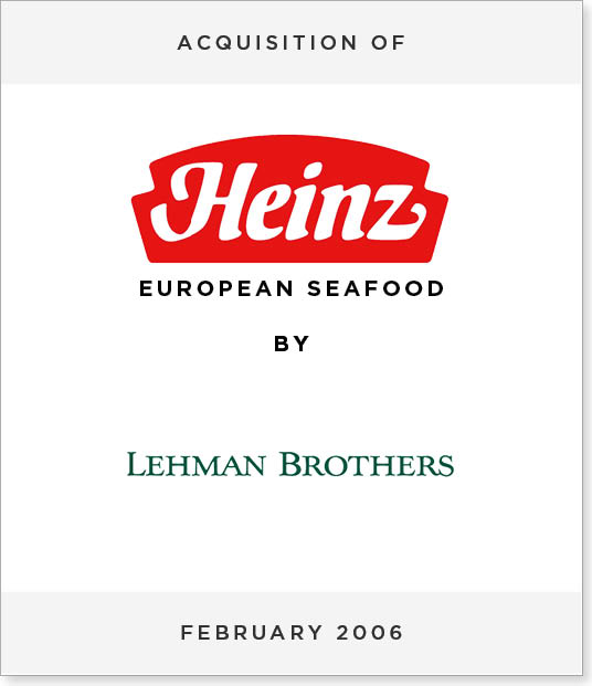 TombstoneV272 Acquisition of Heinz European Seafood by Lehman Brothers
