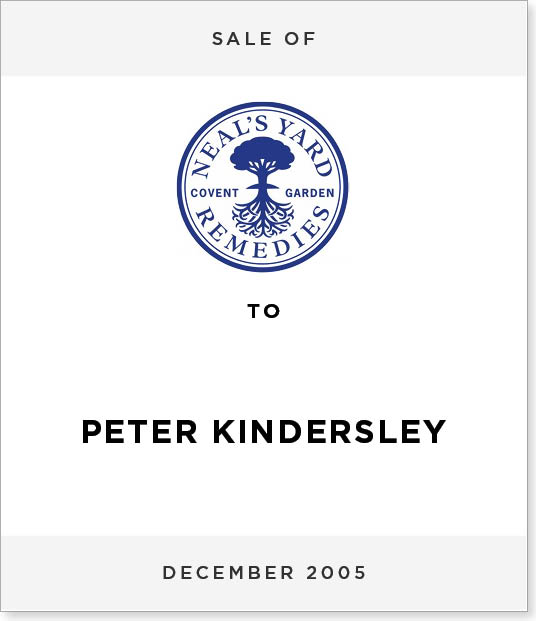 TombstoneV273-1 Disposal of Neal's Yard to Peter Kindersley