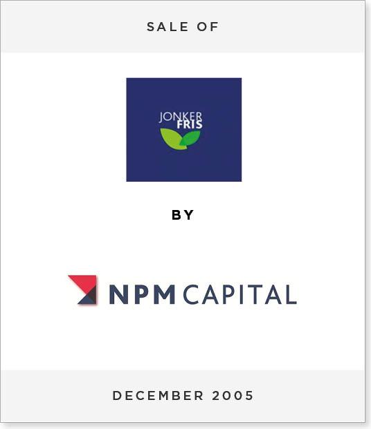 TombstoneV274 Disposal of Jonker Fris to NPM Capital