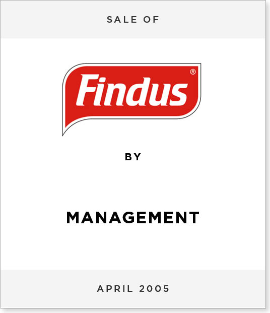 TombstoneV276 Disposal of Findus UK to Management