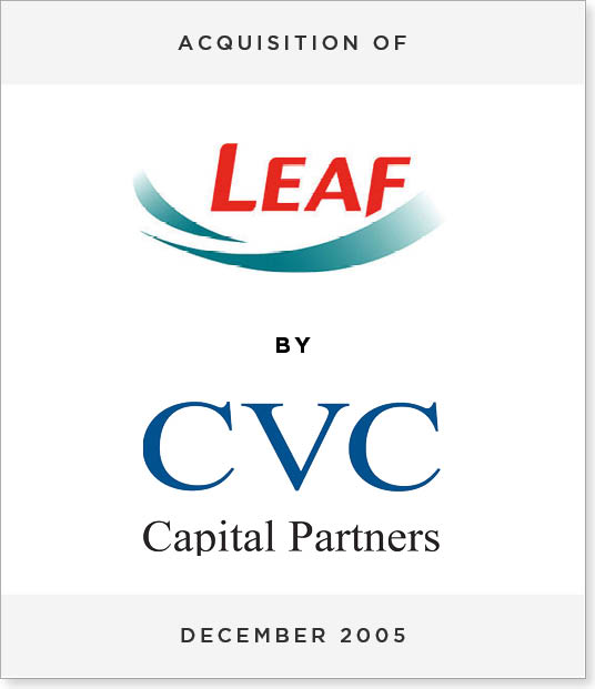TombstoneV277 Acquisition of Leaf International by CVC Capital Partners
