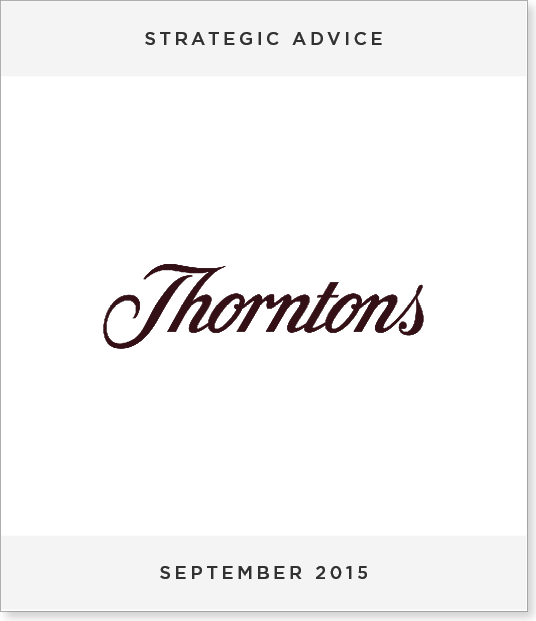 TombstoneV216 Acquisition of Thorntons PLC by Ferrero International S.A.