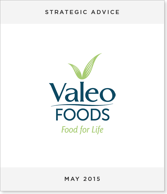 TombstoneV217 Acquisition of Balconi by Valeo Foods