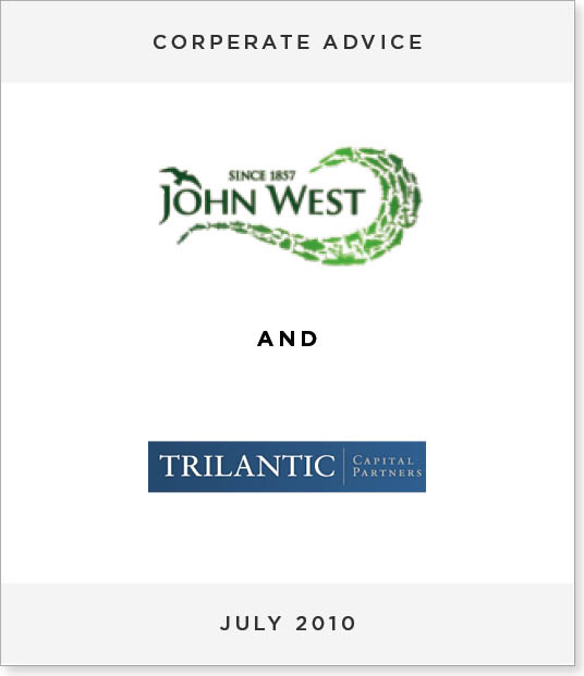 TombstoneV253 Disposal of MW Brands to Trilantic Capital Partners