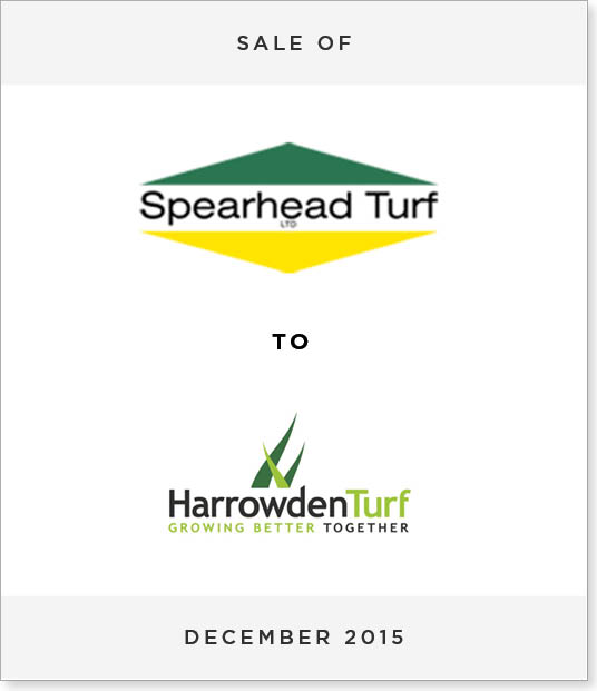 TombstoneV26 Disposal of Spearhead International Turf Division to Harrowden Farms