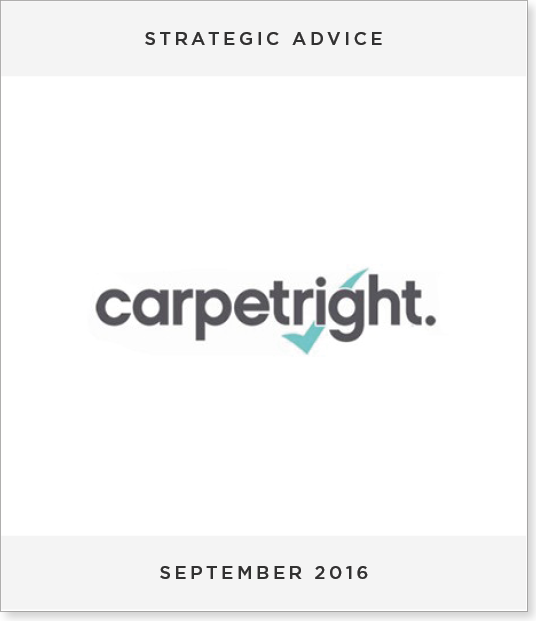 TombstoneV23 Strategic Advice provided to Carpetright PLC