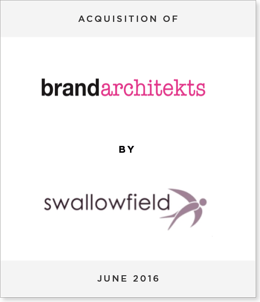 TombstoneV25 Acquisition of Brand Architekts by Swallowfield plc