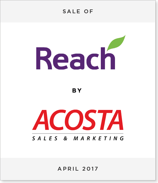 TombstoneV22 Disposal of Reach Holdings to Acosta