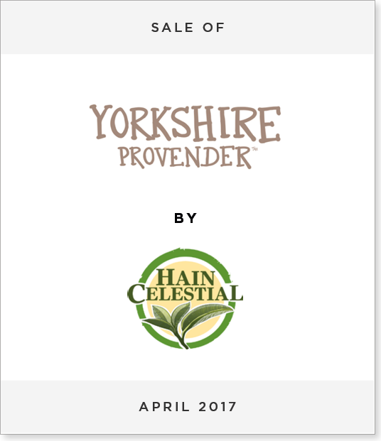 TombstoneV23 Disposal of Yorkshire Provender to Hain Celestial