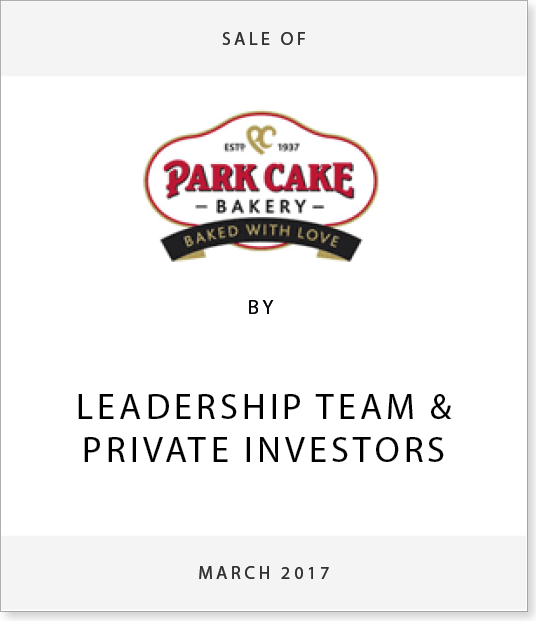 TombstoneV24 Disposal of Park Cake Bakery to Leadership Team & Private Investors