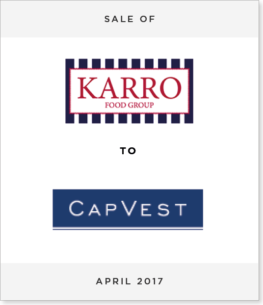 TombstoneV2 Disposal of Karro Food Group Limited to CapVest