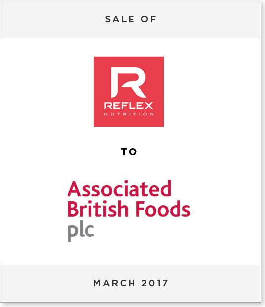 TombstoneV22 Disposal of Reflex Nutrition to Associated British Foods PLC