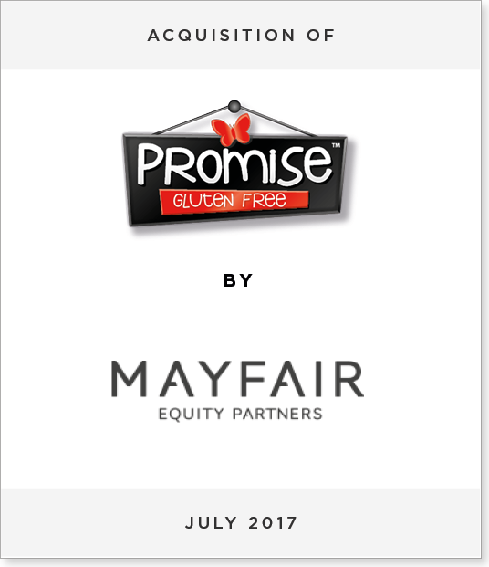 TombstoneV22 Acquisition of Promise Gluten Free by Mayfair Equity Partners