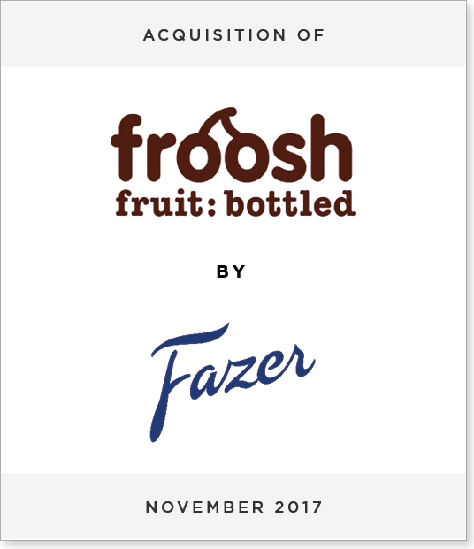 TombstoneV32-3 Acquisition of Froosh by Fazer Group