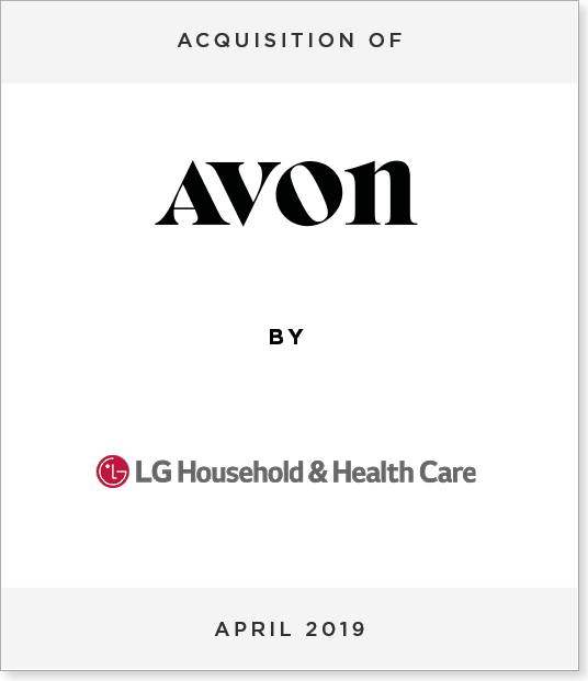 Tombstone-Designnew2 Acquisition of New Avon by LG Household & Health Care