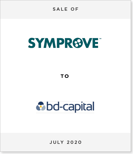 Tombstone-Designnew Sale of Symprove to bd-capital