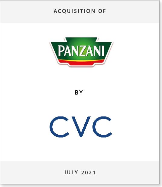 panzani-TOMSTONES Acquisition of Panzani by CVC