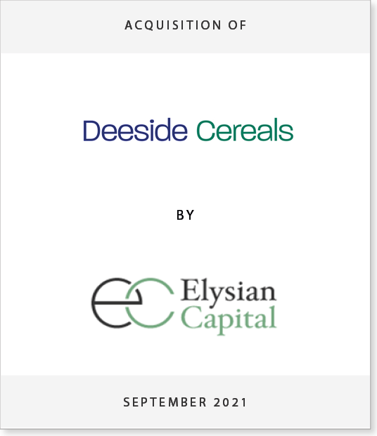 ec-dside-2 Acquisition of Deeside Cereals by Elysian Capital LLP