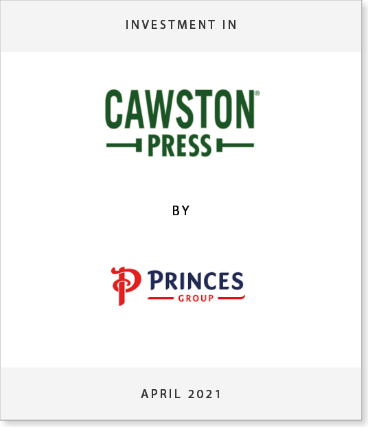 cawston-ts Investment in Cawston Press by Princes Group